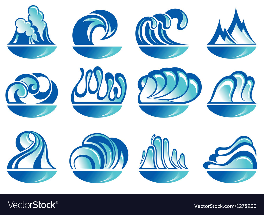 Water waves vector | Price: 1 Credit (USD $1)