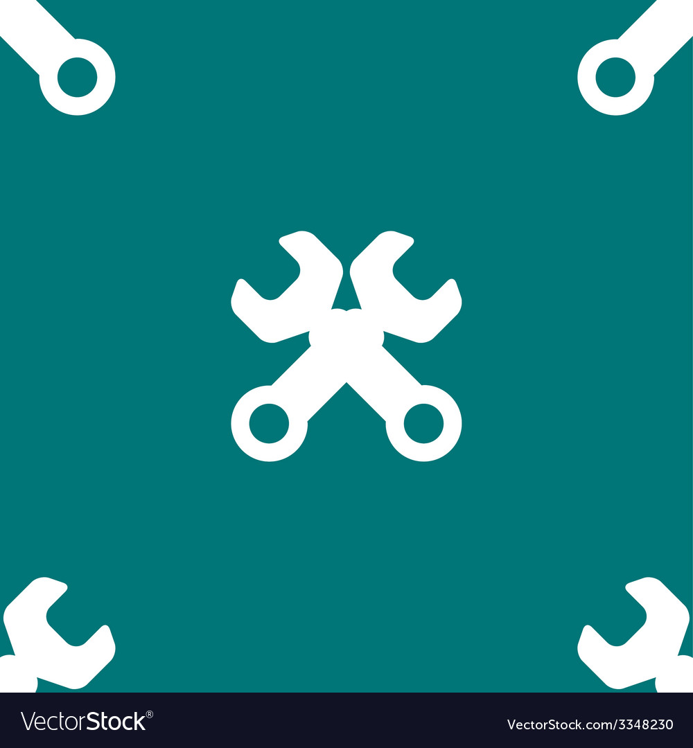 Wrench tool to work web icon flat design seamless vector | Price: 1 Credit (USD $1)