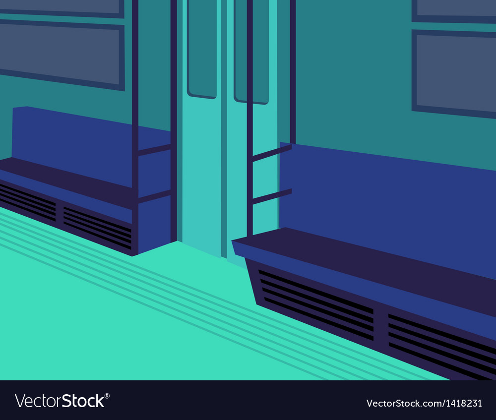 Metro train interior vector | Price: 1 Credit (USD $1)