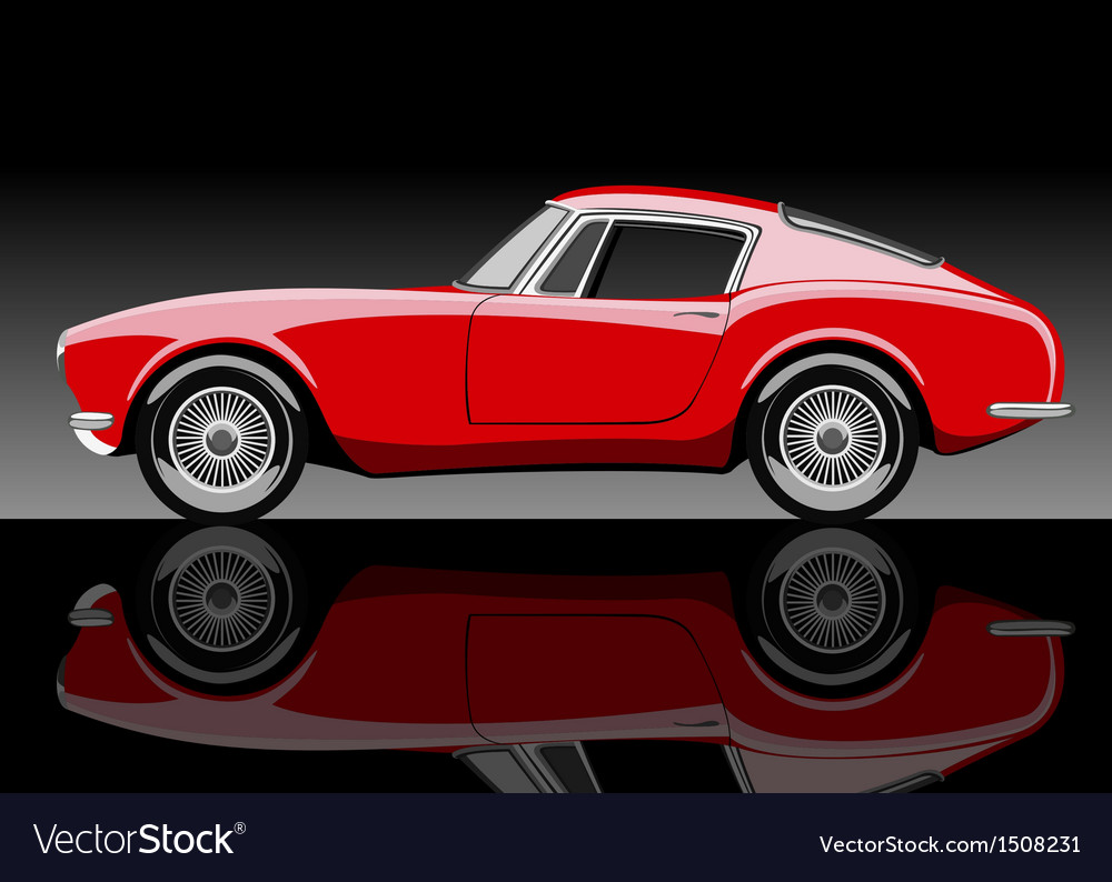 Red car vector | Price: 3 Credit (USD $3)