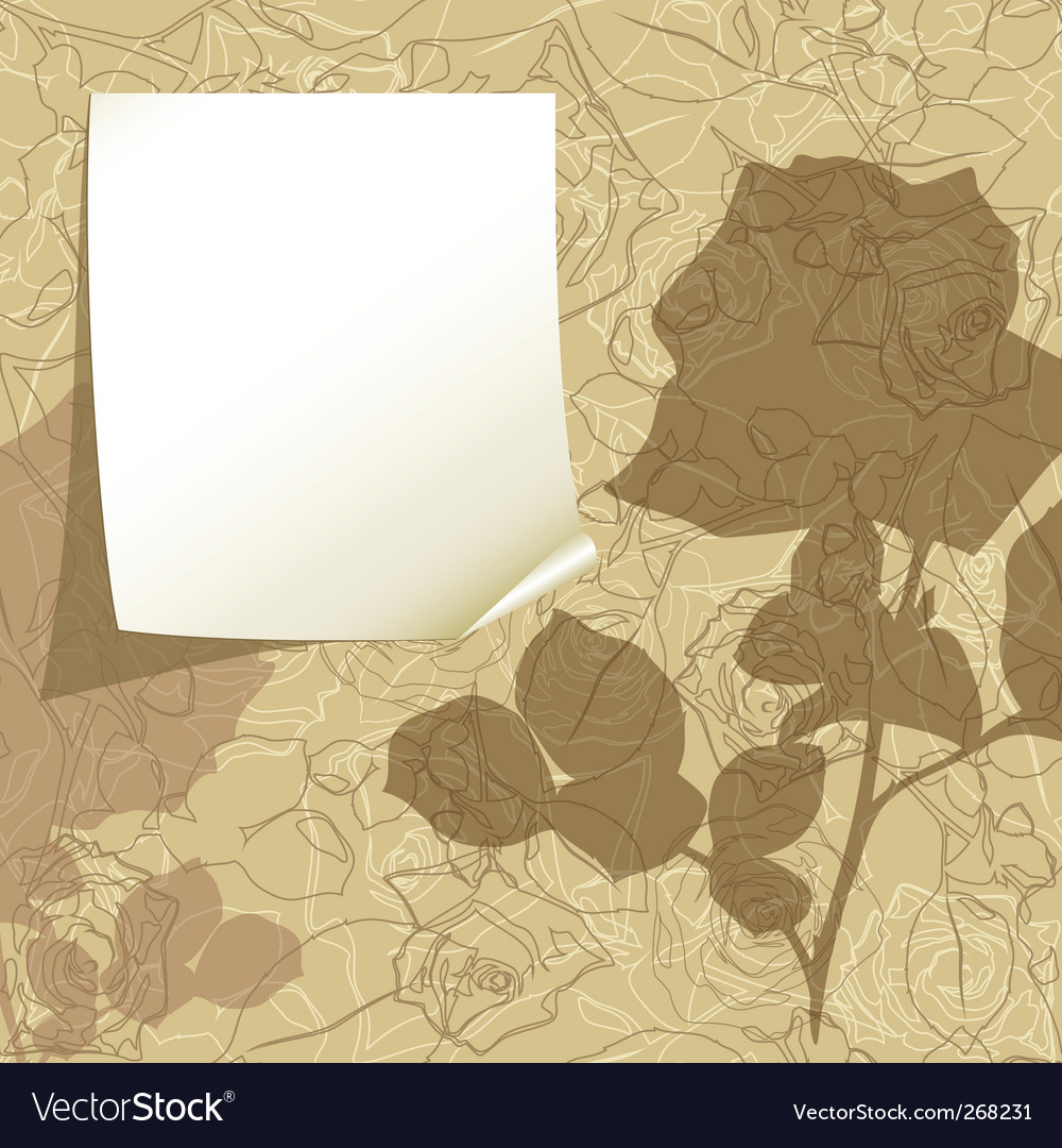Tag on the floral background vector   Price: 1 Credit (USD $1)