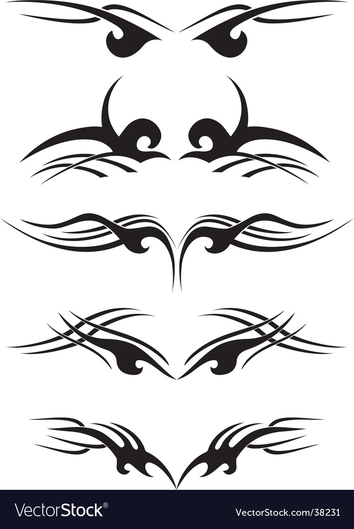 Tribal tattoo samples vector | Price: 1 Credit (USD $1)