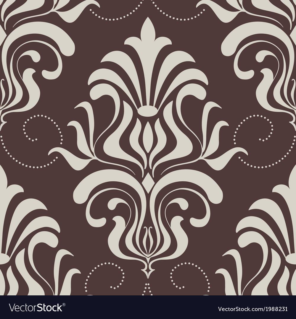Vintage damask seamless pattern element vector | Price: 1 Credit (USD $1)