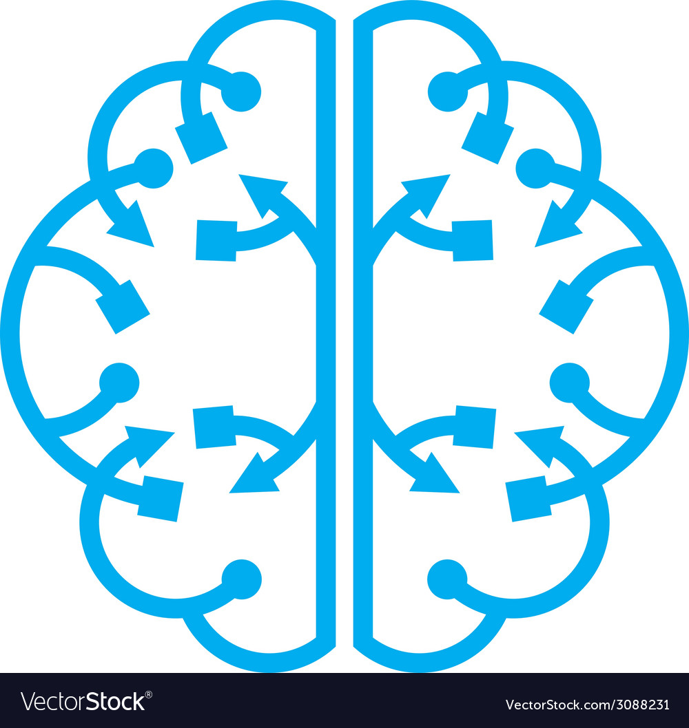 Wave from the brain vector | Price: 1 Credit (USD $1)