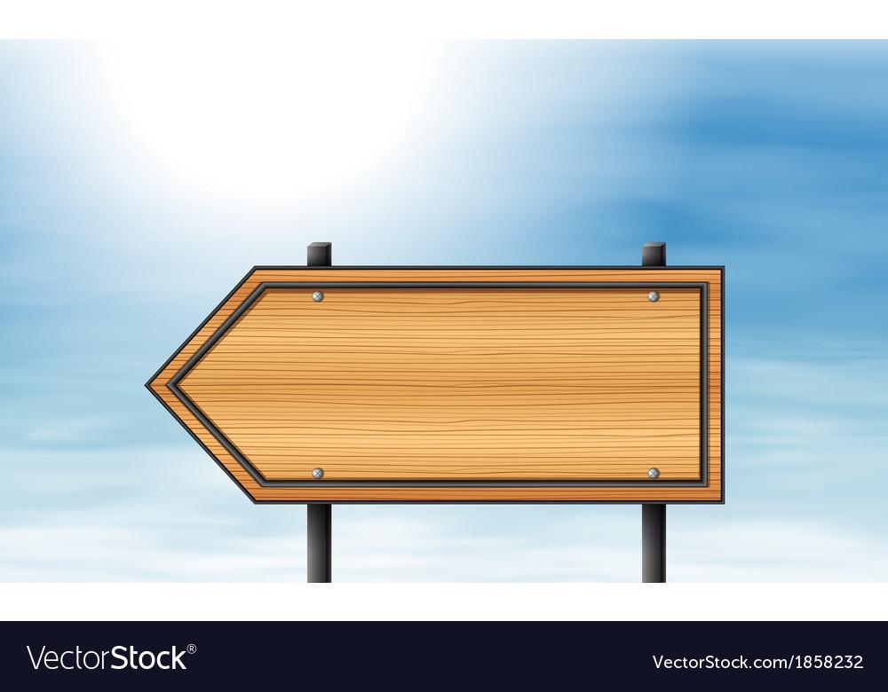 A wooden arrow signboard vector | Price: 1 Credit (USD $1)
