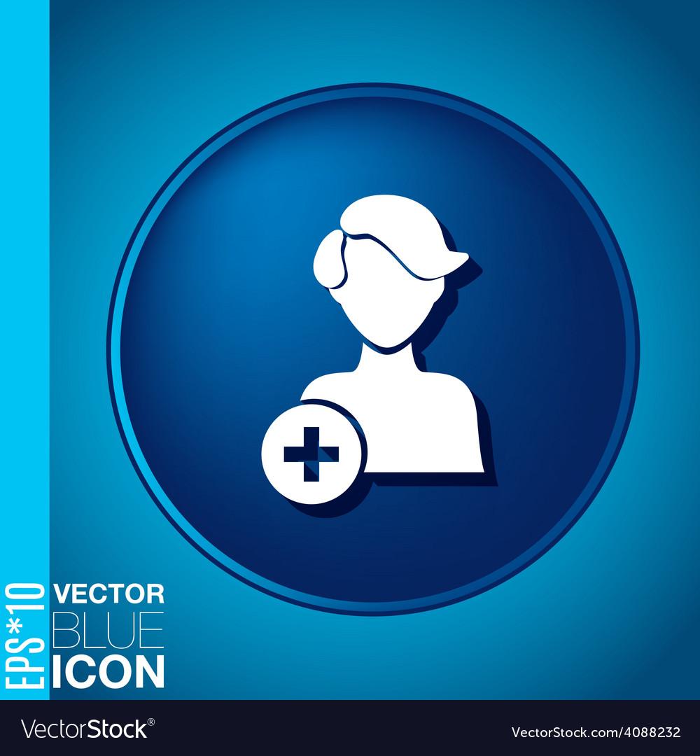 Add friend avatar vector | Price: 1 Credit (USD $1)