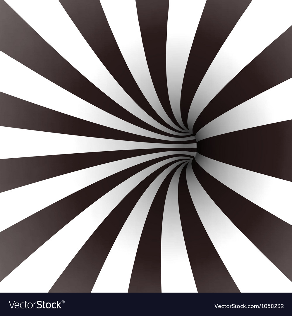 Black and white spiral tunnel vector | Price: 1 Credit (USD $1)