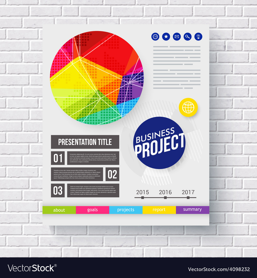 Dynamic frontispiece for a business project vector | Price: 1 Credit (USD $1)
