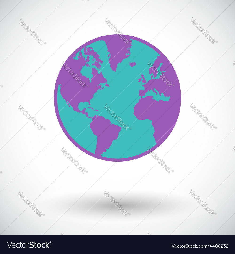 Earth flat icon vector | Price: 1 Credit (USD $1)