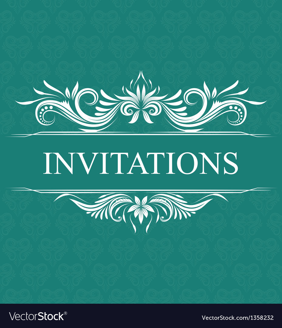 Invitations wedding ornamental vector | Price: 1 Credit (USD $1)