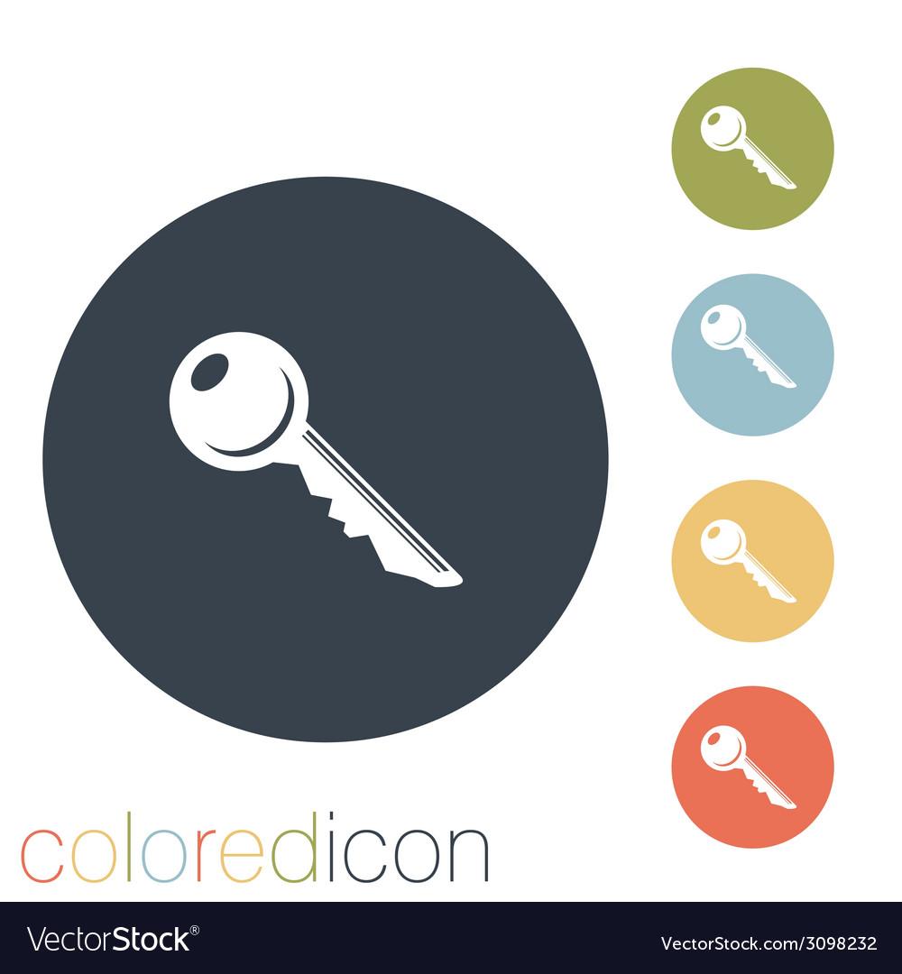 Key symbol icon vector   Price: 1 Credit (USD $1)