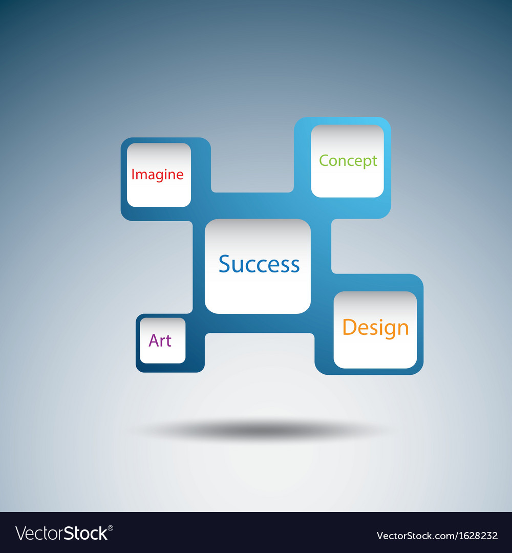 Label diagram of success concept vector | Price: 1 Credit (USD $1)