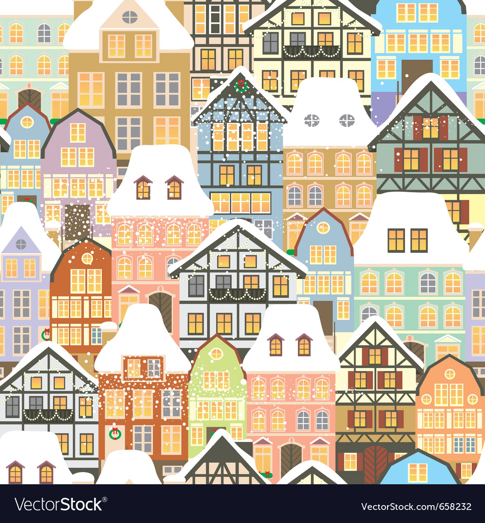 Old city pattern vector | Price: 3 Credit (USD $3)