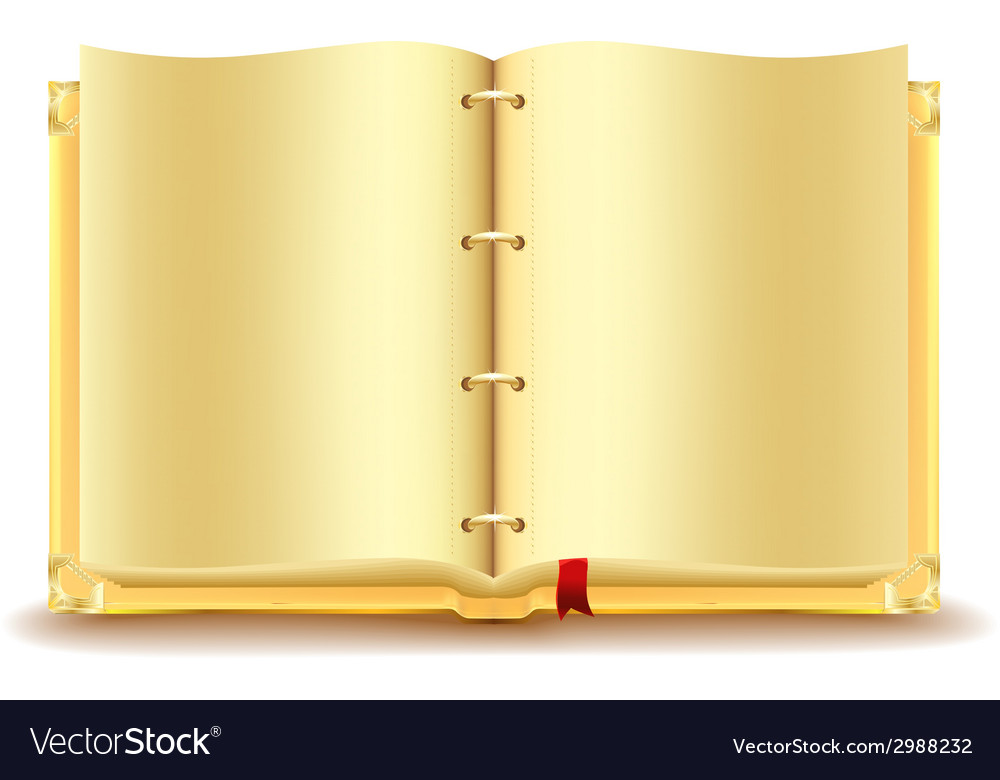 Open gold book vector | Price: 1 Credit (USD $1)