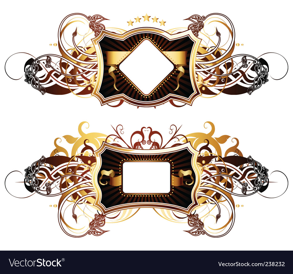 Ornamental shields vector | Price: 1 Credit (USD $1)