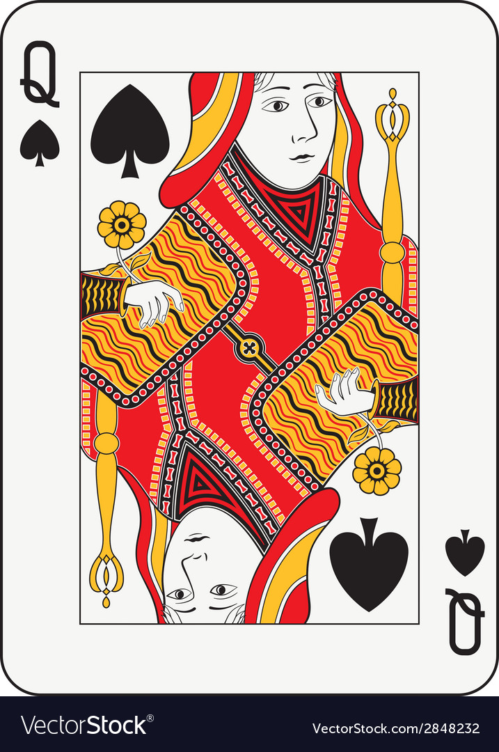 Queen of spades vector | Price: 1 Credit (USD $1)