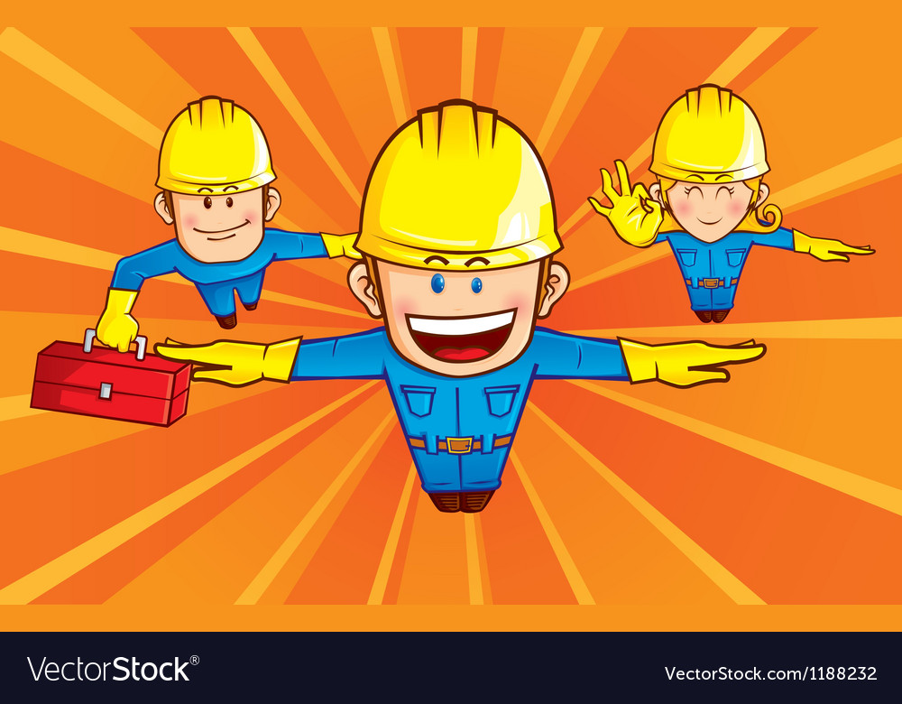 Repairman superhero vector