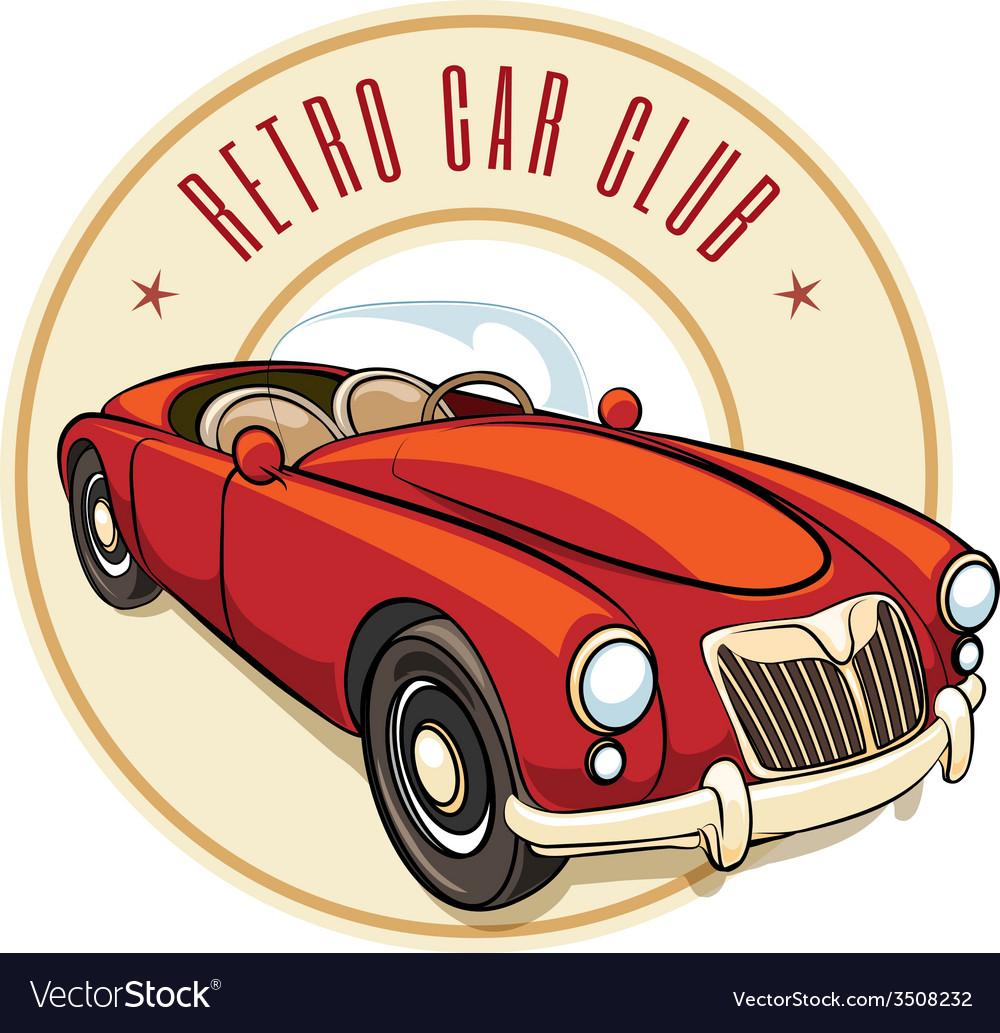 Retro car label vector   Price: 1 Credit (USD $1)