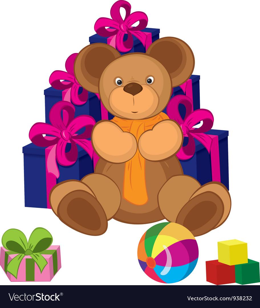 Teddy bear toy vector | Price: 3 Credit (USD $3)