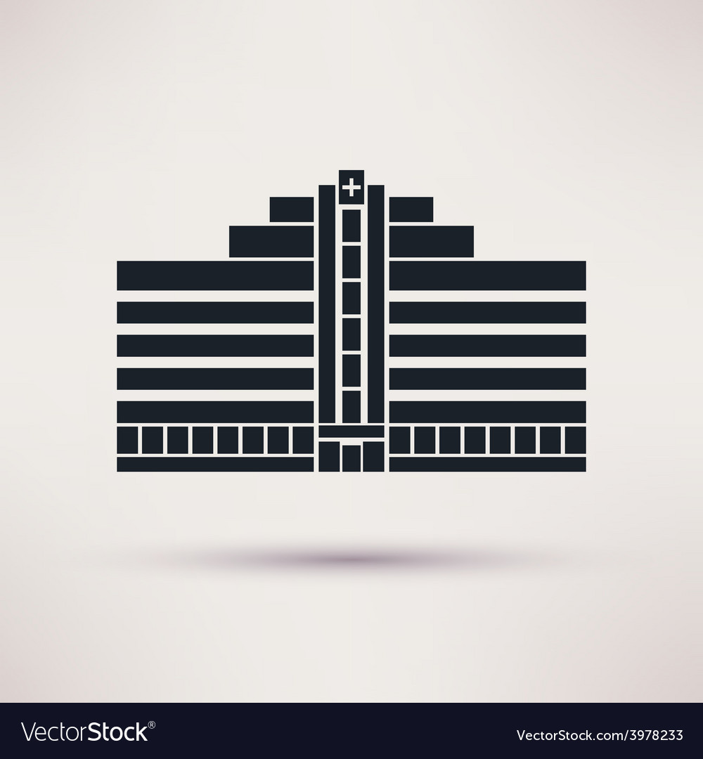City hospital building in flat style vector | Price: 1 Credit (USD $1)