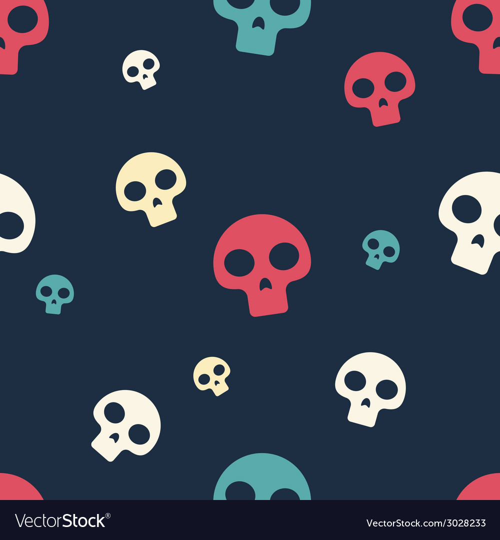Colored small skull pattern vector | Price: 1 Credit (USD $1)