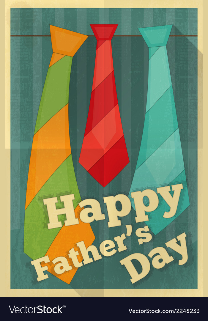 Fathers day poster ties vector | Price: 1 Credit (USD $1)