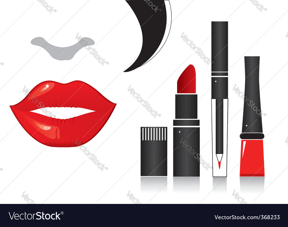 Make up lips vector | Price: 3 Credit (USD $3)