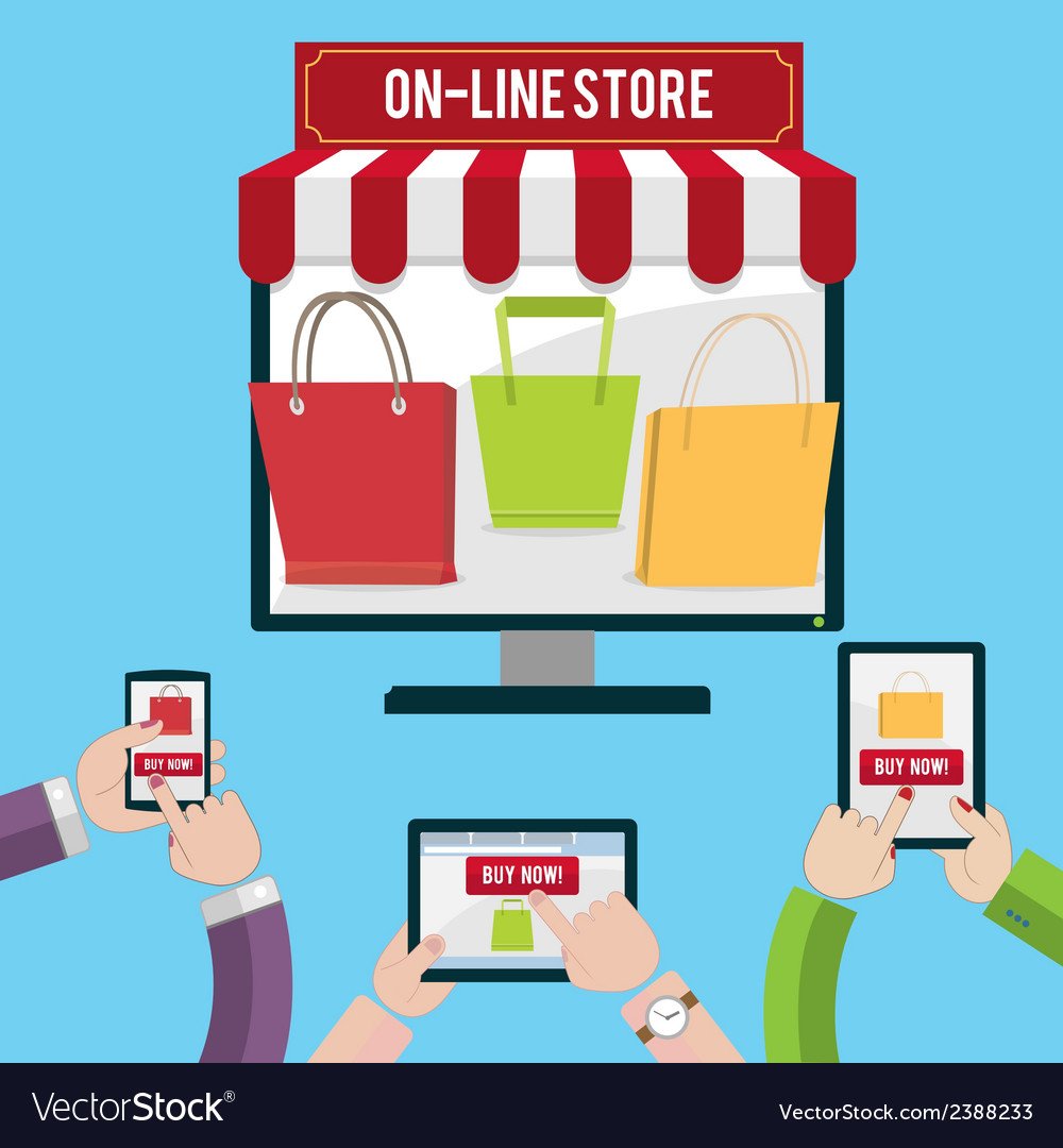 Mobile shopping concept vector | Price: 1 Credit (USD $1)