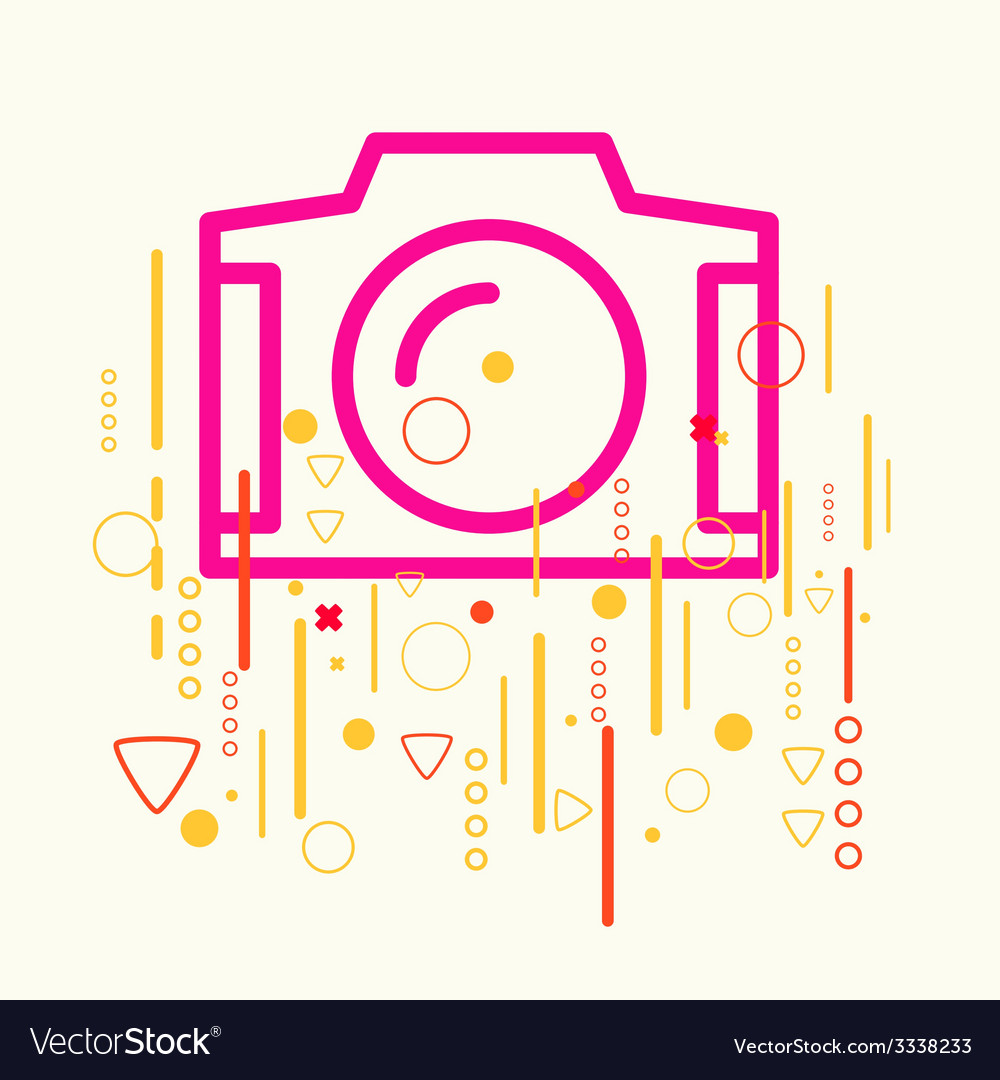 Photo camera on abstract colorful geometric light vector | Price: 3 Credit (USD $3)