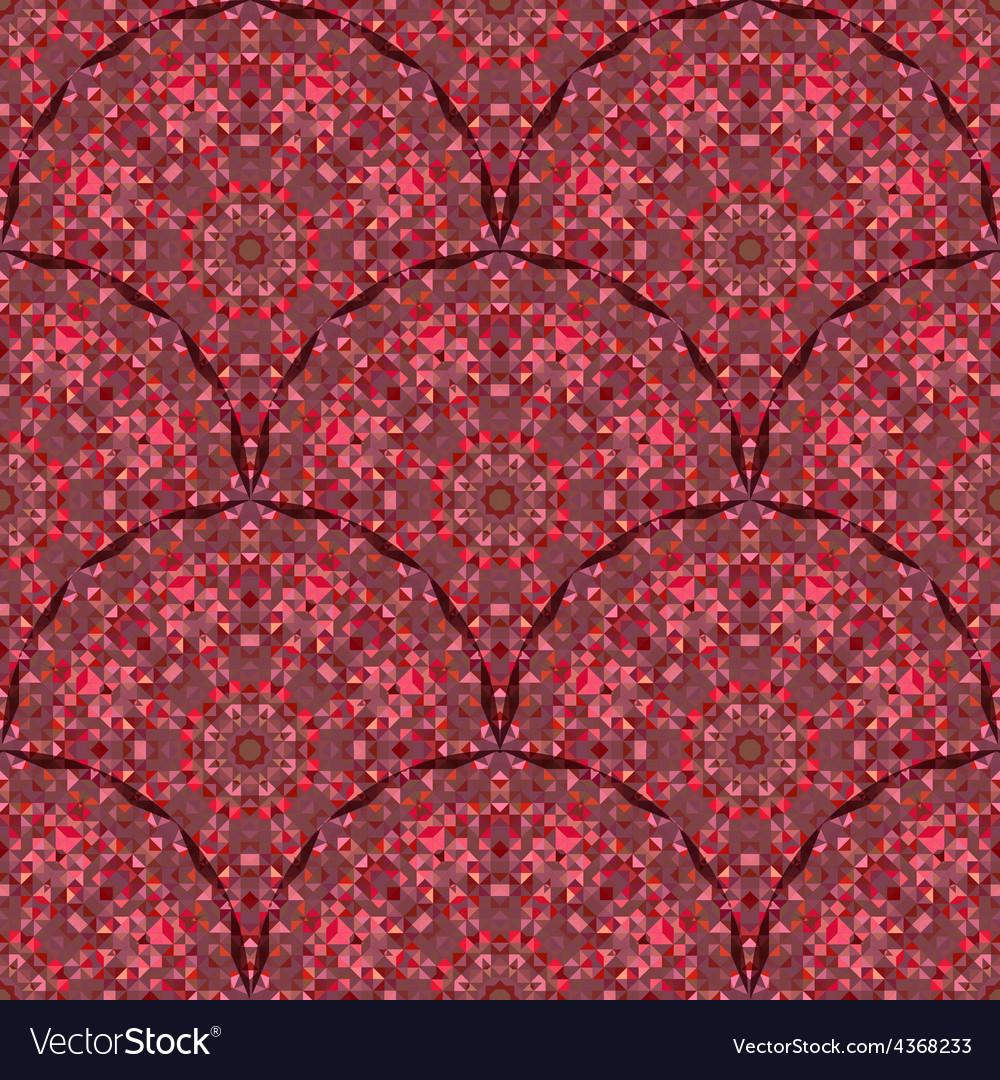 Red geometric pattern vintage vector | Price: 1 Credit (USD $1)