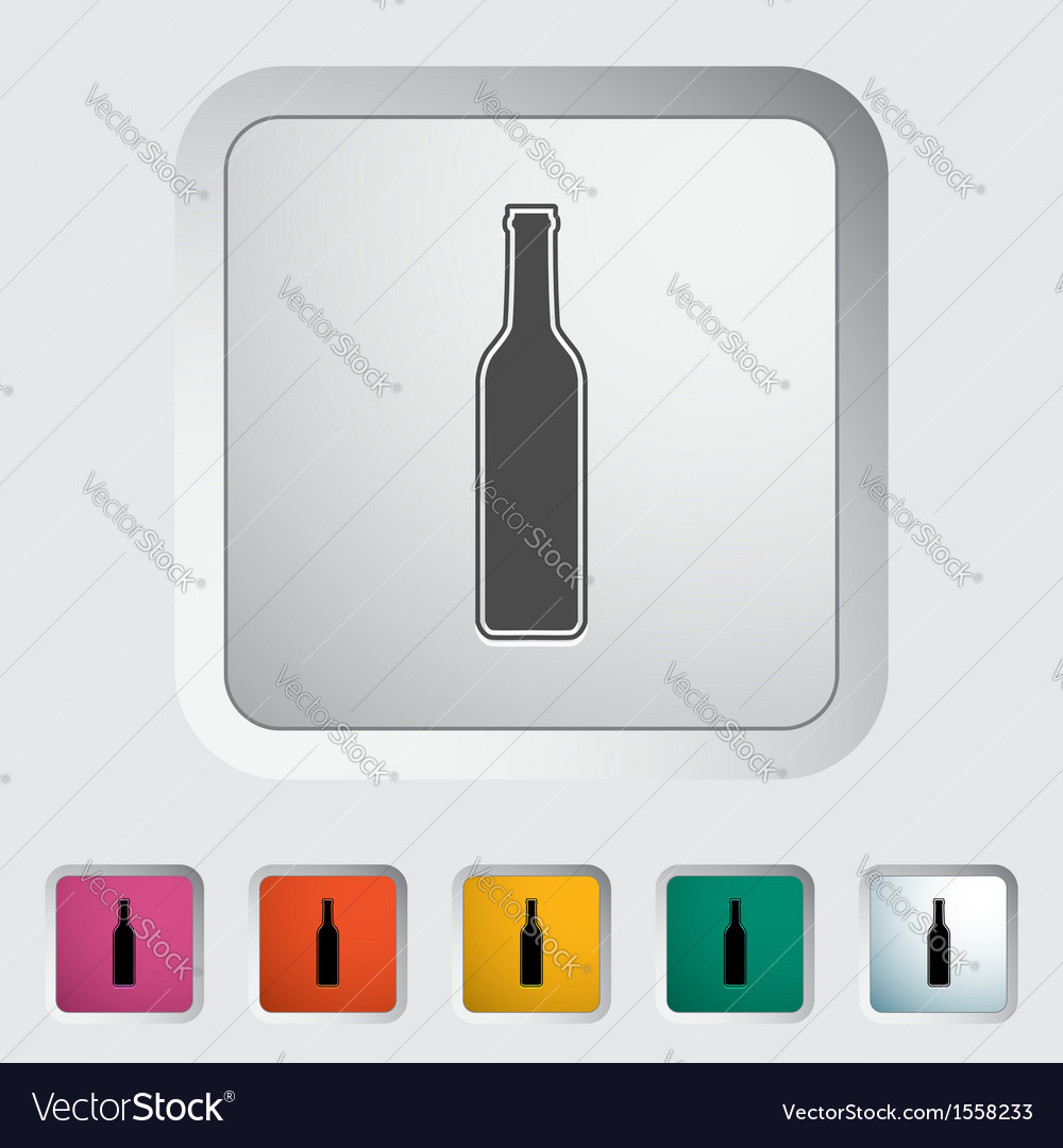 Wain bottle vector | Price: 1 Credit (USD $1)