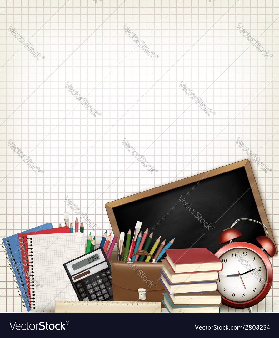 Back to school education background with school vector | Price: 1 Credit (USD $1)