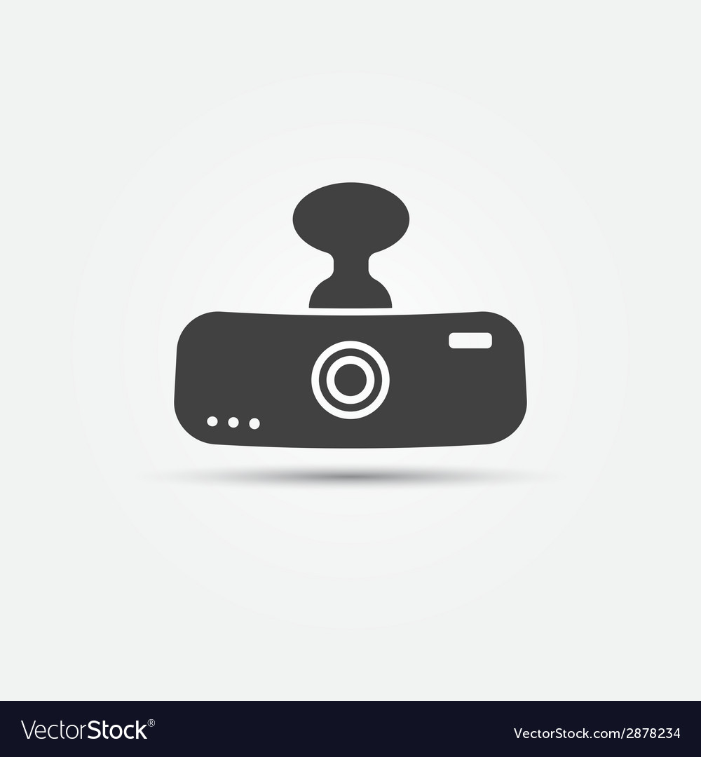 Car digital video recorder icon vector | Price: 1 Credit (USD $1)