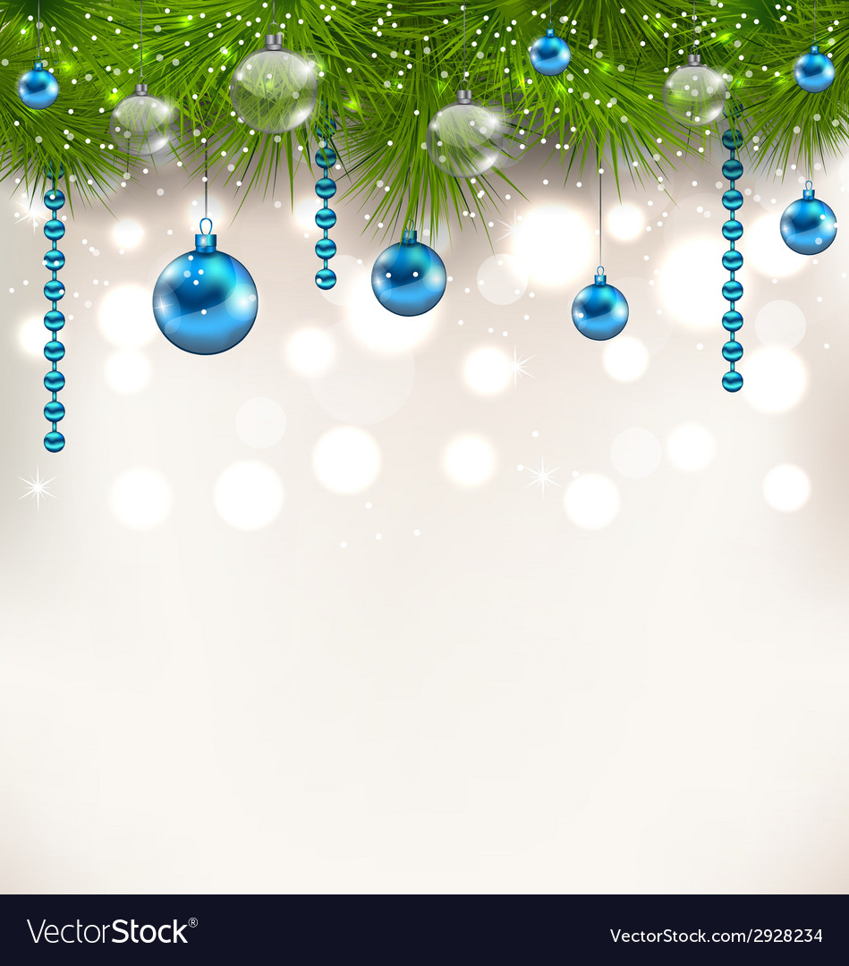 Christmas shimmering background with fir twigs and vector | Price: 1 Credit (USD $1)