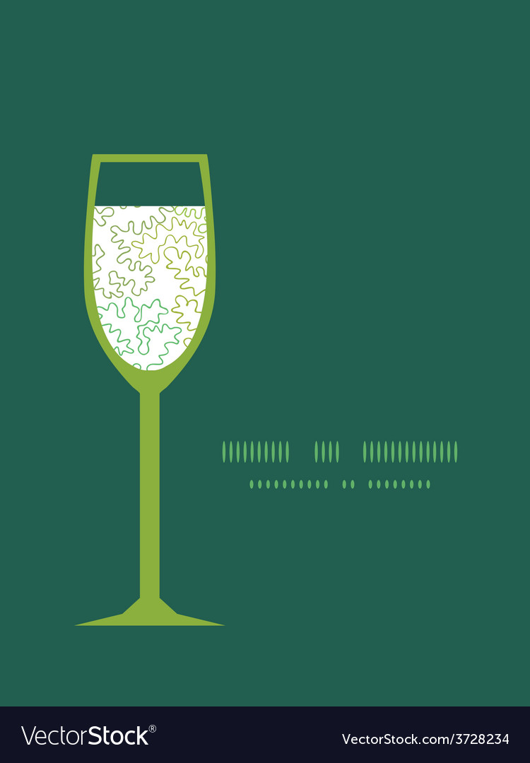 Curly doodle shapes wine glass silhouette vector | Price: 1 Credit (USD $1)