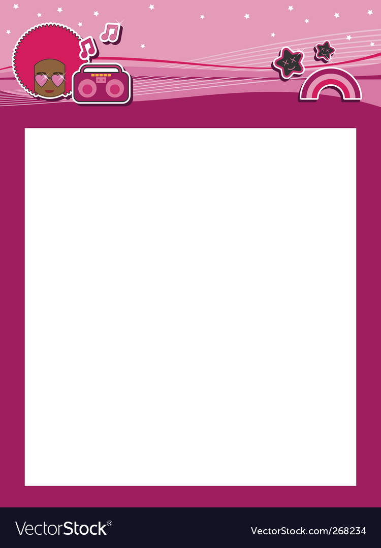 Funky pink header vector | Price: 1 Credit (USD $1)