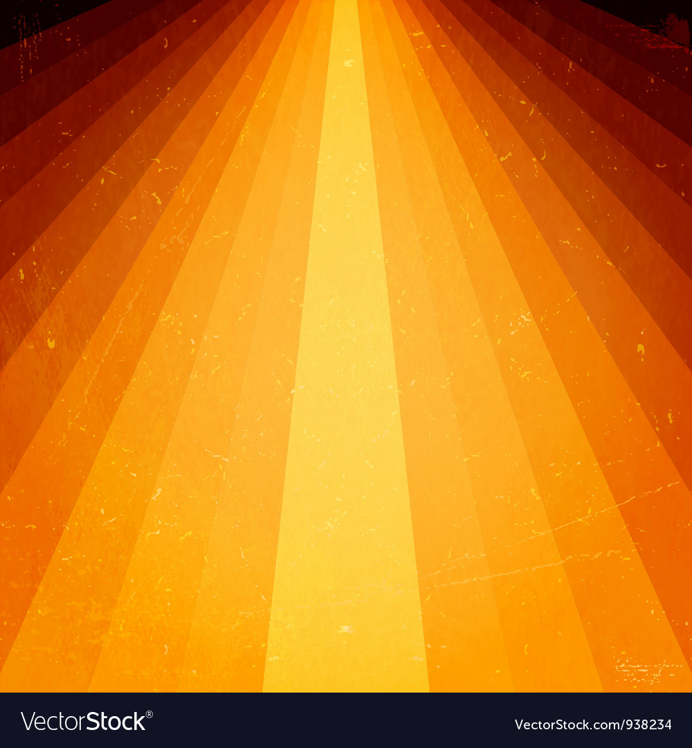 Golden light beams with grunge elements vector | Price: 1 Credit (USD $1)