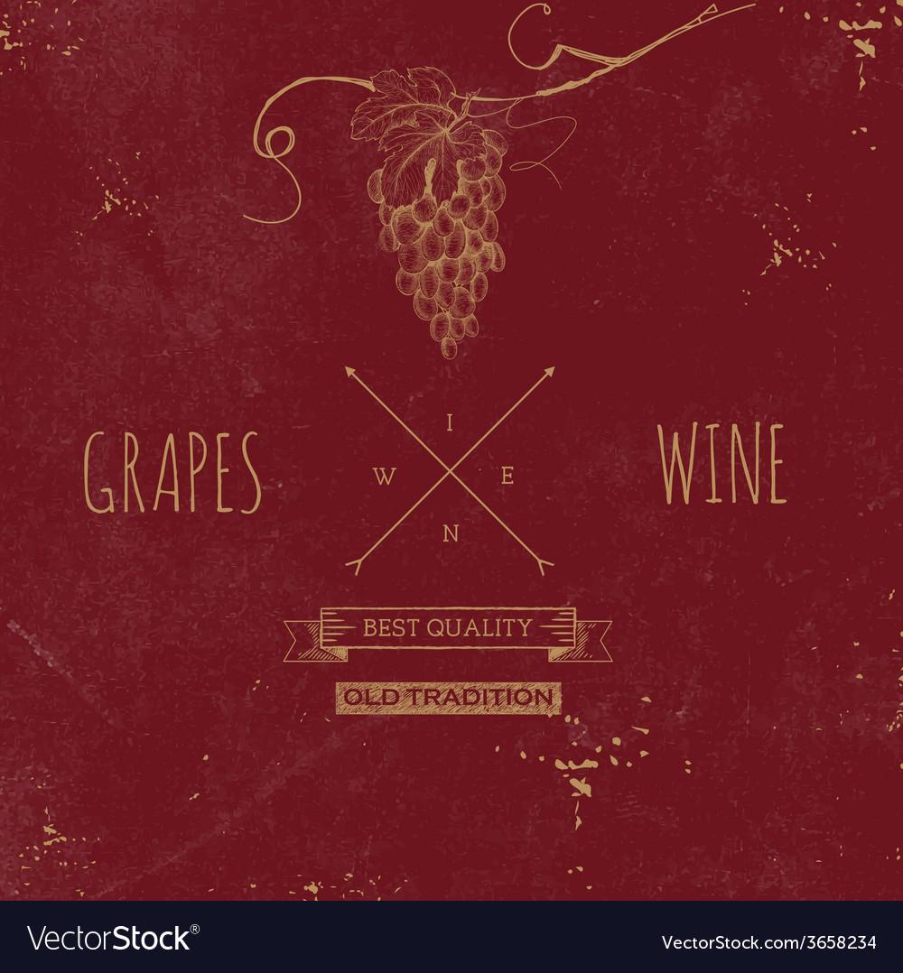 Hand drawn grunge wine background vector | Price: 1 Credit (USD $1)