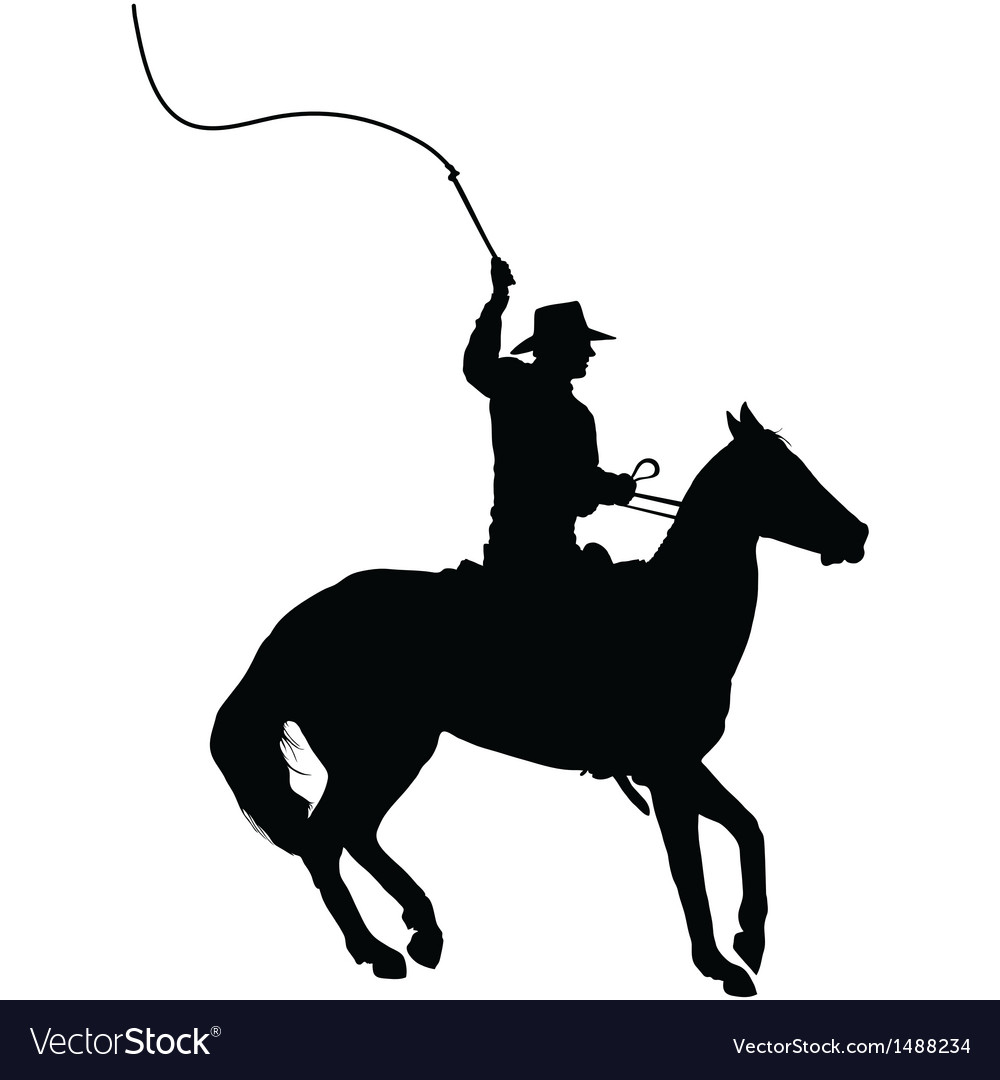 Horseman with whip vector | Price: 1 Credit (USD $1)