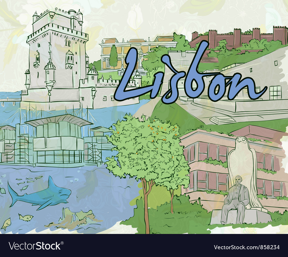 Lisbon doodles vector | Price: 3 Credit (USD $3)
