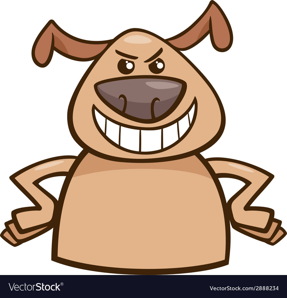 Mood cruel dog cartoon vector | Price: 1 Credit (USD $1)