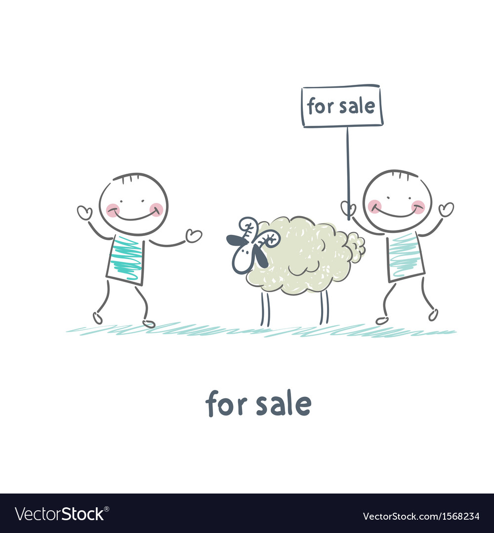 Selling sheep vector | Price: 1 Credit (USD $1)