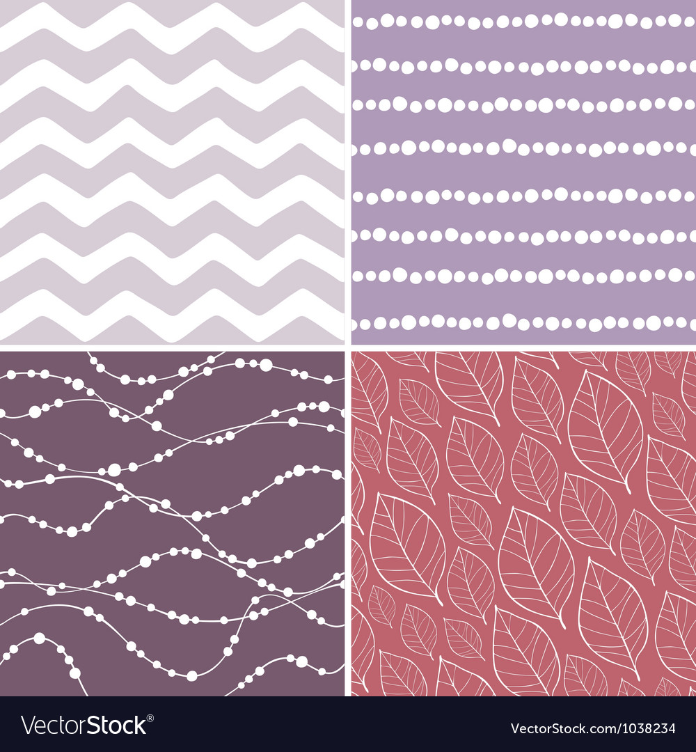 Set of seamless abstract and floral patterns vector