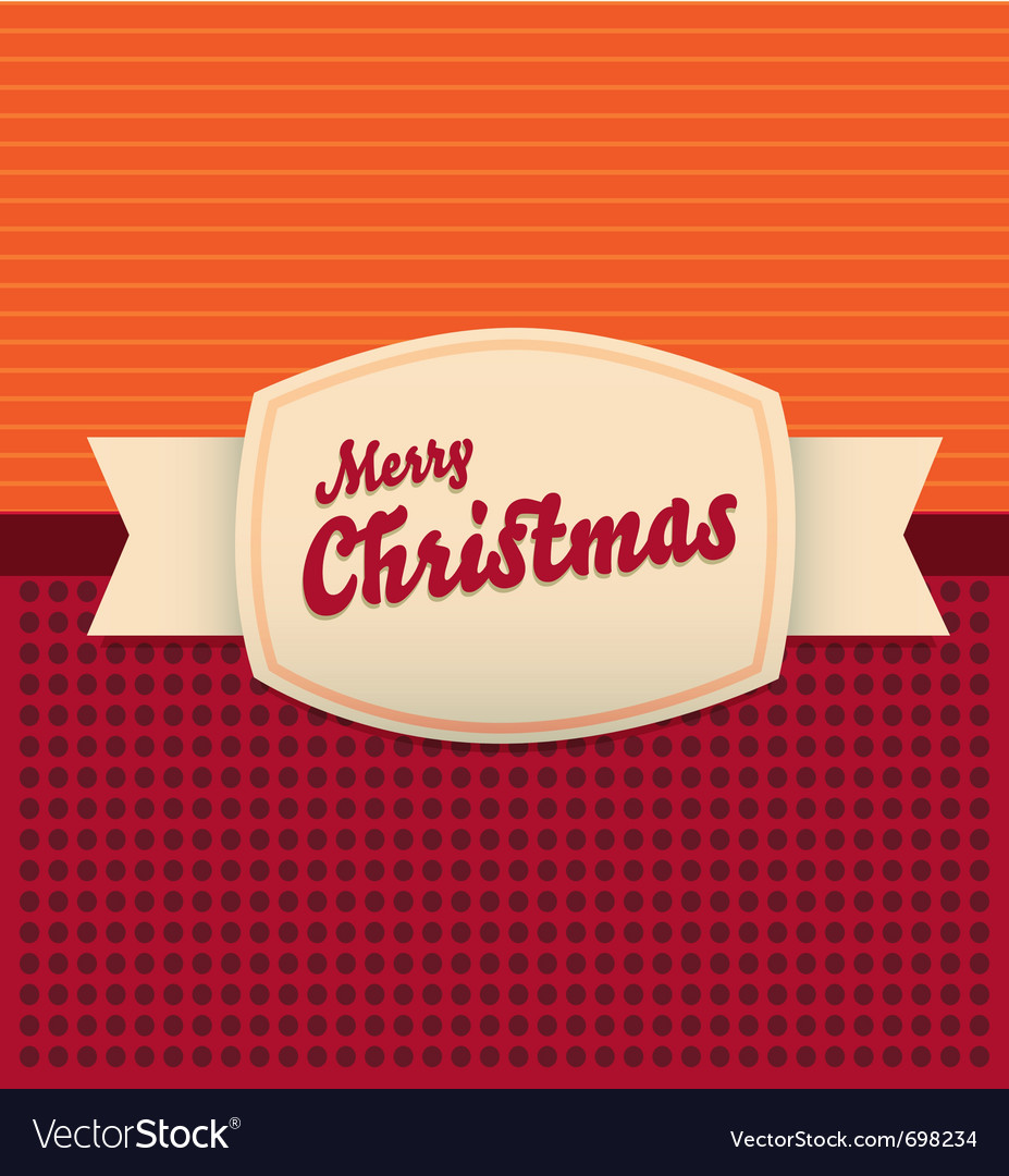 Vintage merry christmas card vector | Price: 1 Credit (USD $1)