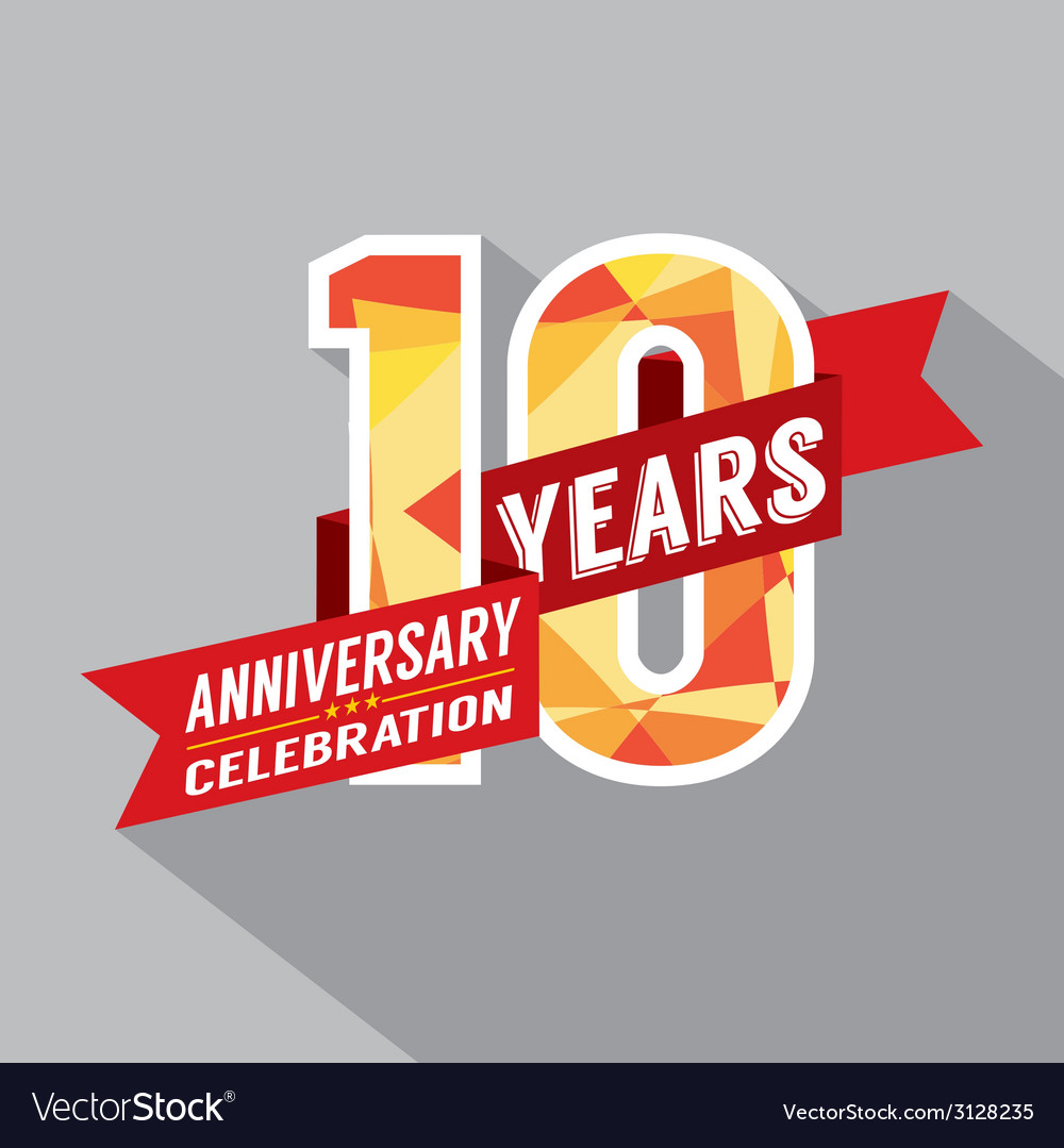 10th years anniversary celebration design vector | Price: 1 Credit (USD $1)