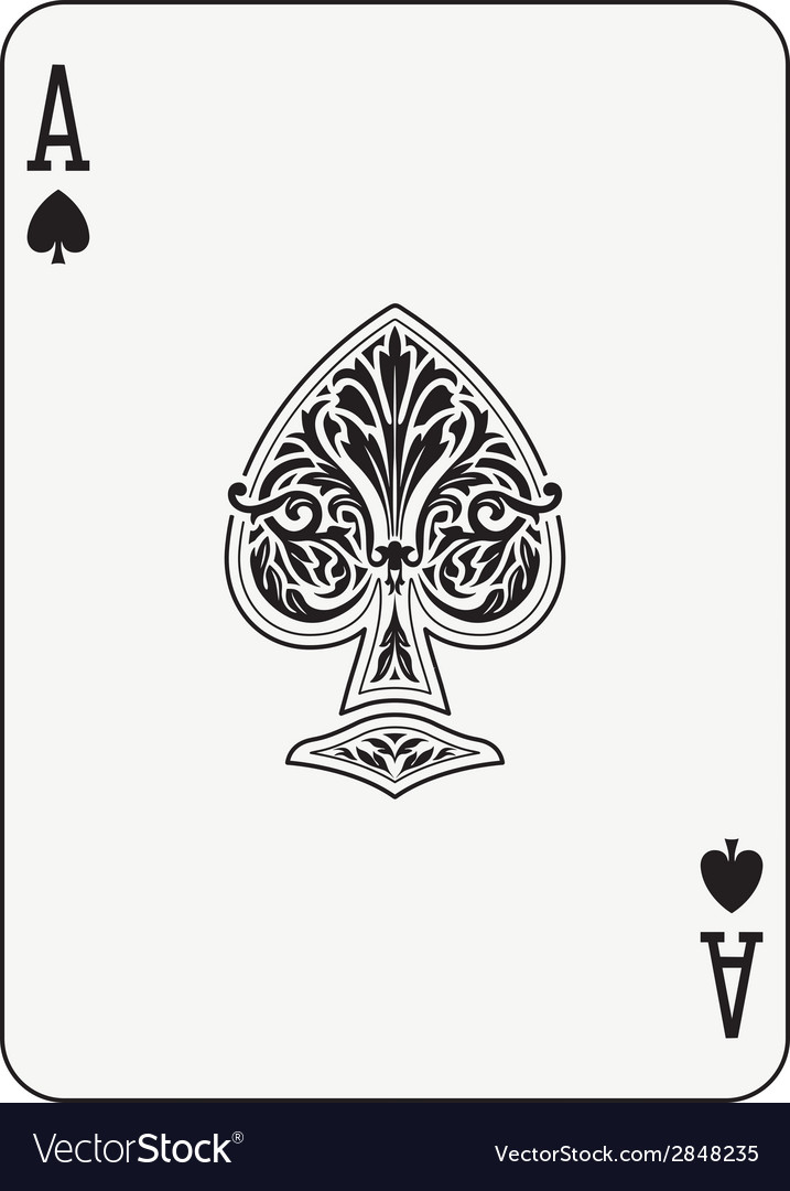 Ace of spades vector | Price: 1 Credit (USD $1)