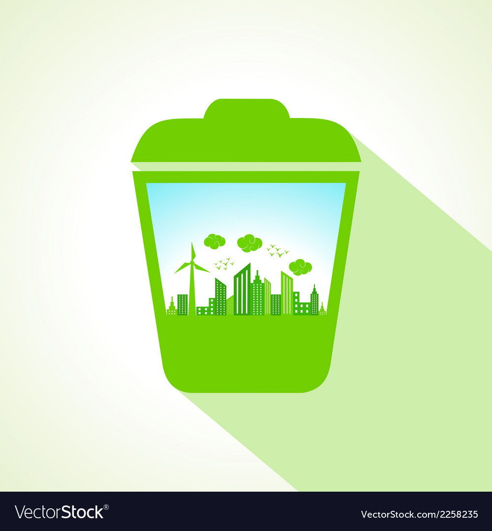 Ecology concept with recycle bin stock vector | Price: 1 Credit (USD $1)