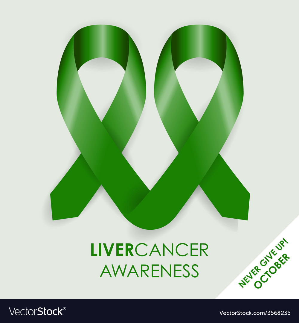 Liver cancer ribbon vector | Price: 1 Credit (USD $1)