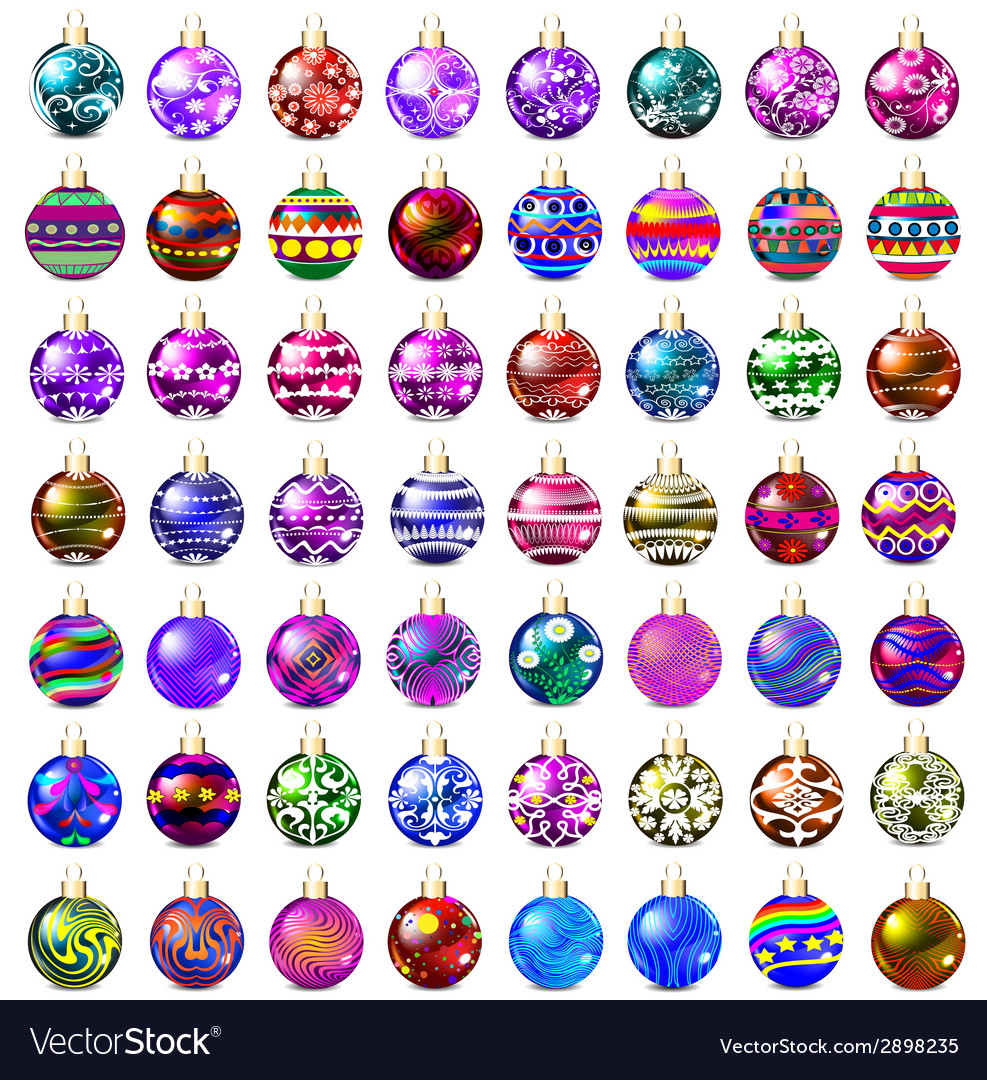 Set of decorative glass beads vector | Price: 1 Credit (USD $1)