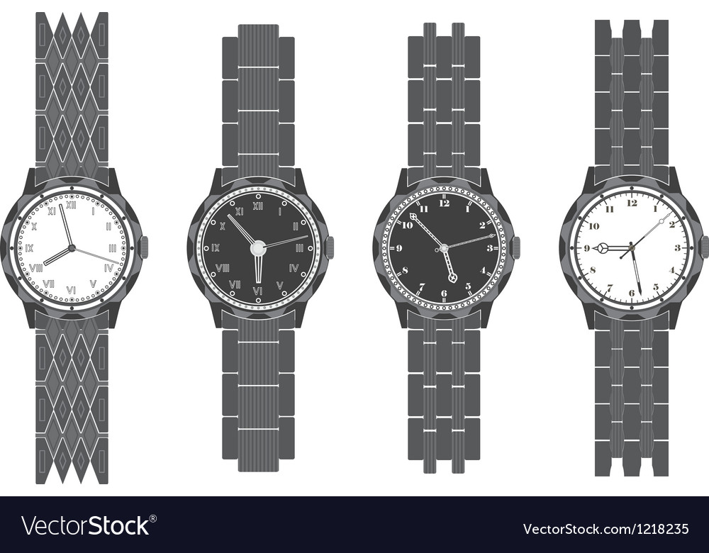Set wristwatch with bracelet vector | Price: 1 Credit (USD $1)